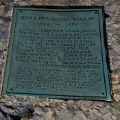 Millay Plaque Mt. Battie