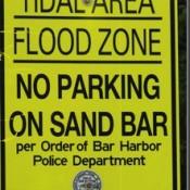Sign at the bar