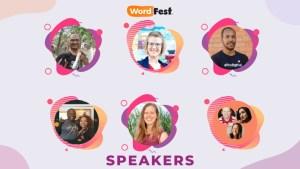 Speakers at WordFest 2021