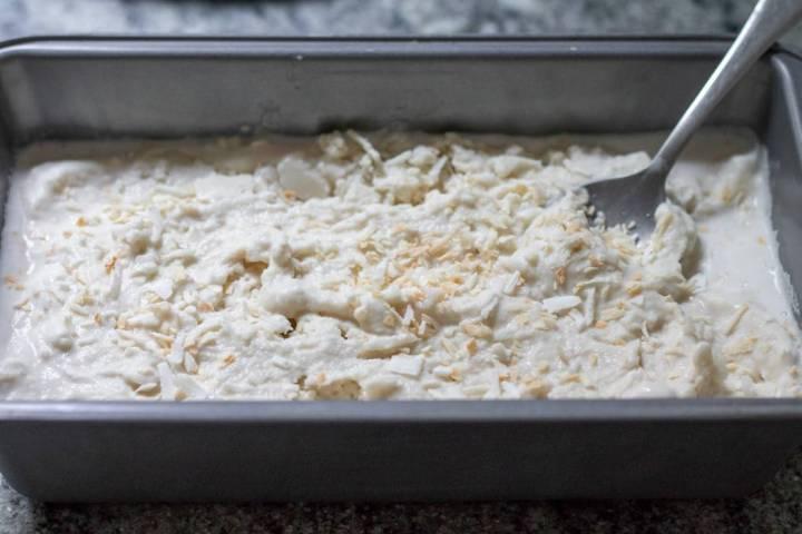 Double Coconut Ginger Ice Cream prep