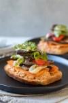 Roasted Veg Sandwiches With Smoky Walnut Sauce