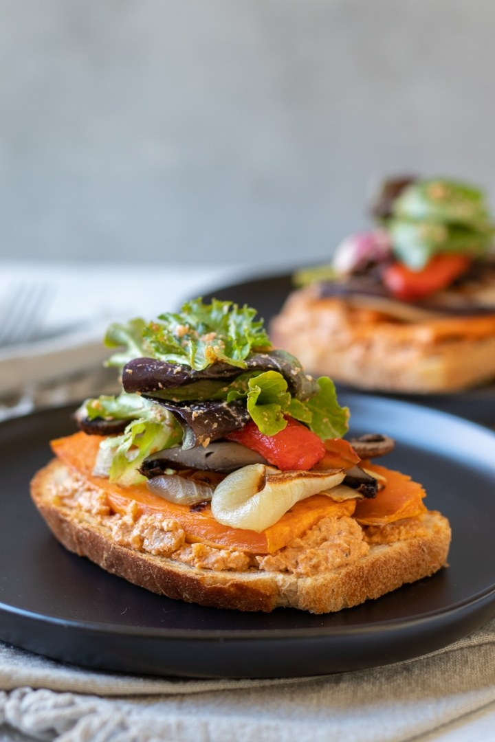 Roasted Vegetable Sandwiches With Smoky Walnut Sauce