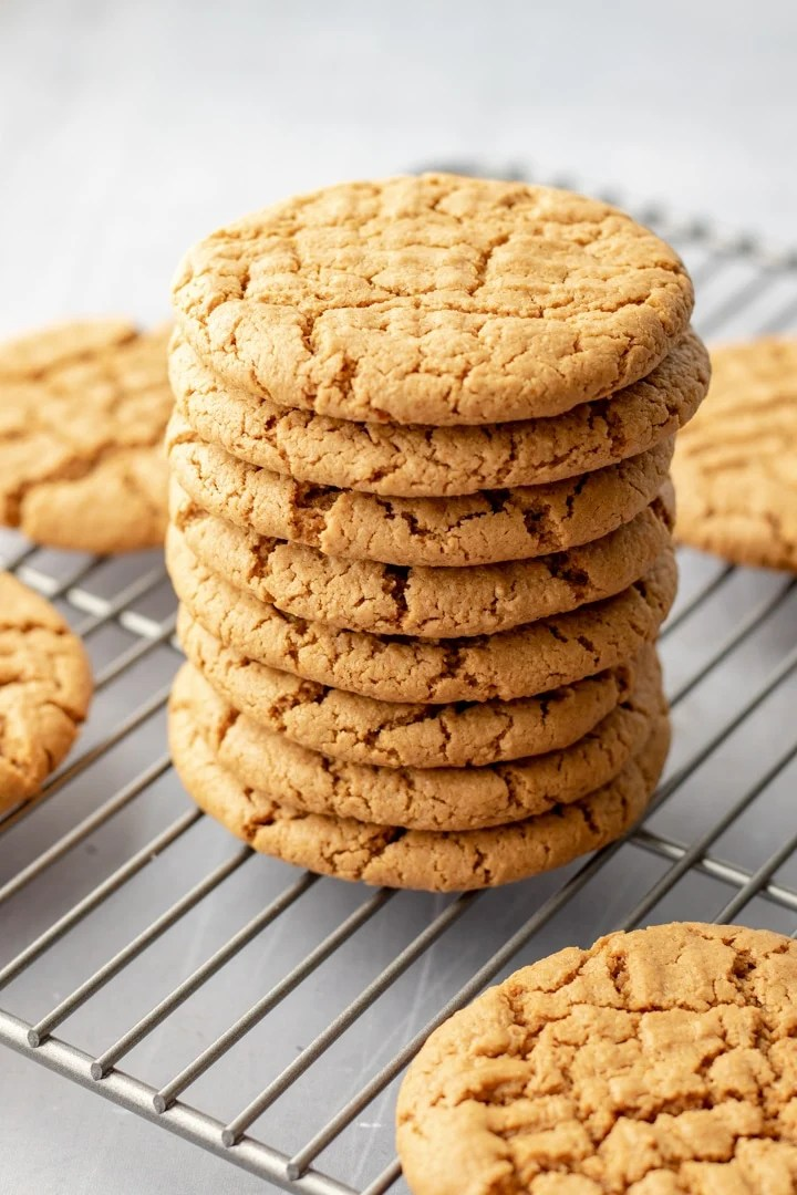 a stack of Sunbutter Cookies