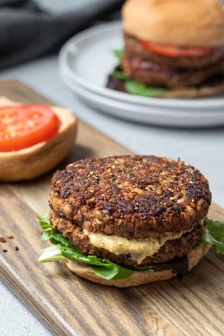 Peachy Vegan Mushroom Barley Burgers Download Free Architecture Designs Terstmadebymaigaardcom