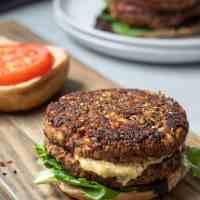Vegan Mushroom-Barley Burgers