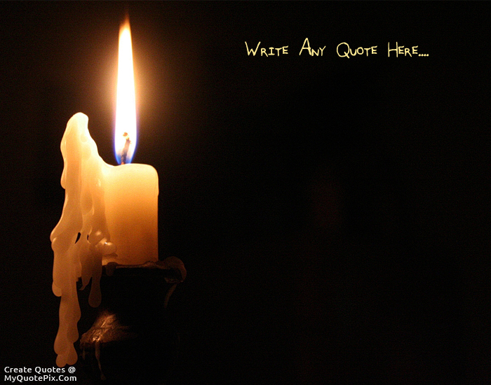 Rest In Peace Quotes Wallpaper Write Quote On Melting Candle Picture