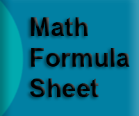 2014 GED Mathmatics Formula Sheet