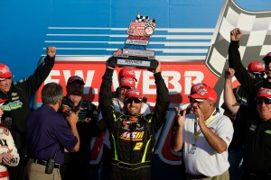 Doug Coby in Victory Lane (Photo By Getty Images for NASCAR)