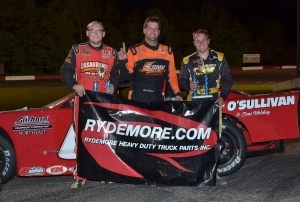 Monadnock top 3 from L to R 3rd Cory Casagrande 1st Mike O'Sullivan 2nd DJ Shaw (Chip Cormie Photo)