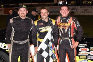 Seacoast 100 top 3 from L to R 3rd Btyan Kruczek 1st DJ Shaw 3rd Derek Griffith (Rich hayes Photo)