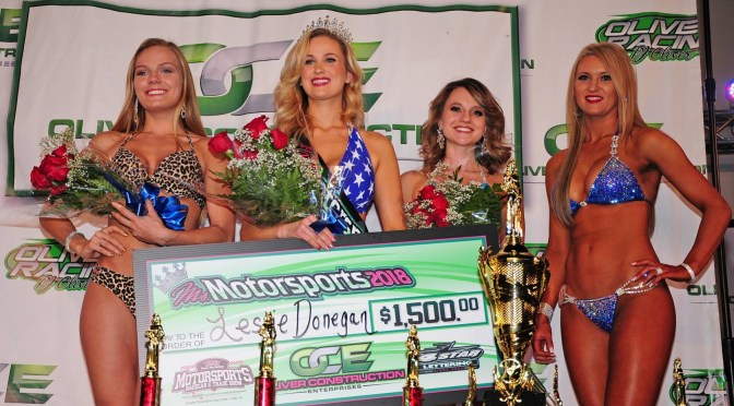 MS LESLIE DONEGAN CROWNED MS MOTORSPORTS IN FRONT OF LARGE CROWD