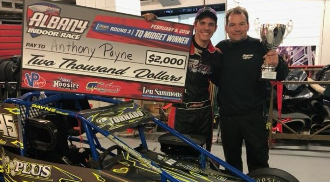 Teenager Anthony Payne Wins TQ Midget Feature at the Times Union Center