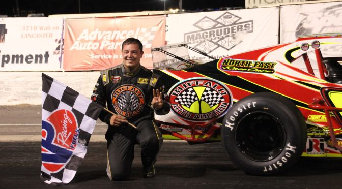EMERLING SCORES THIRD SPORTSMAN WIN AT LANCASTER
