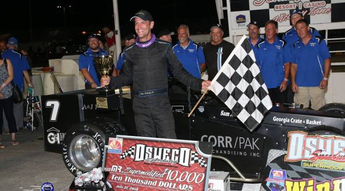 Otto Outruns 'Em All for Fourth $10,000 Mr. Supermodified Title at Oswego Speedway
