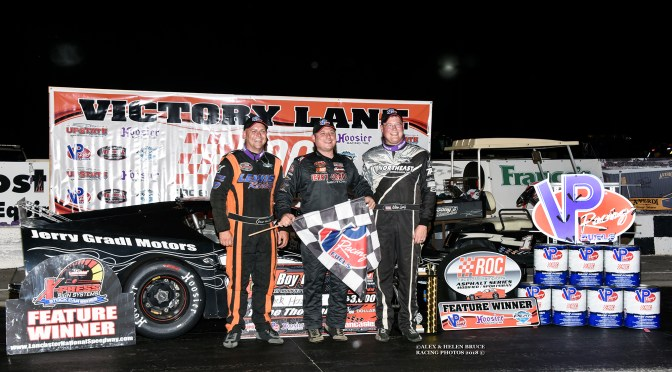 CHUCK HOSSFELD EARNS THRILLING OL BOY CUP IV VICTORY AT LANCASTER NATIONAL SPEEDWAY