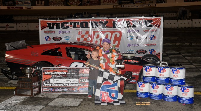 MATT HIRSCHMAN ADDS NUMBER 7 AS THE MOST PROLIFIC WINNER IN THE HISTORY OF THE RACE OF CHAMPIONS