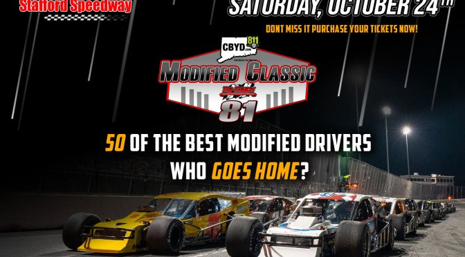 Half of Drivers Entered in the Call Before You Dig Modified Classic Have a Victory At Stafford Speedway