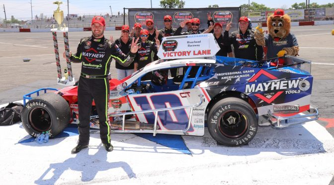 DOUG COBY SEEKING SWEEP OF RIVERHEAD RACEWAY NASCAR WHELEN MODIFIED TOUR EVENTS IN MILLER LITE 200 SATURDAY