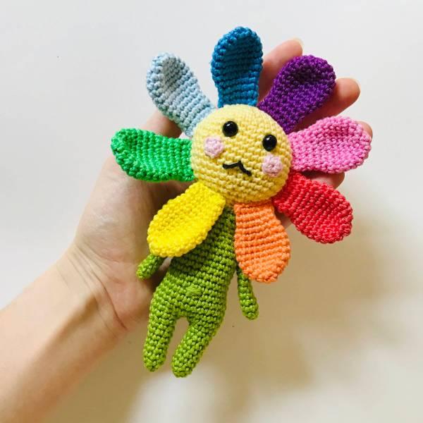 patron Valérie amigurumi fleur
