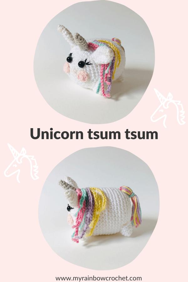 unicorn tsum tsum amigurumi