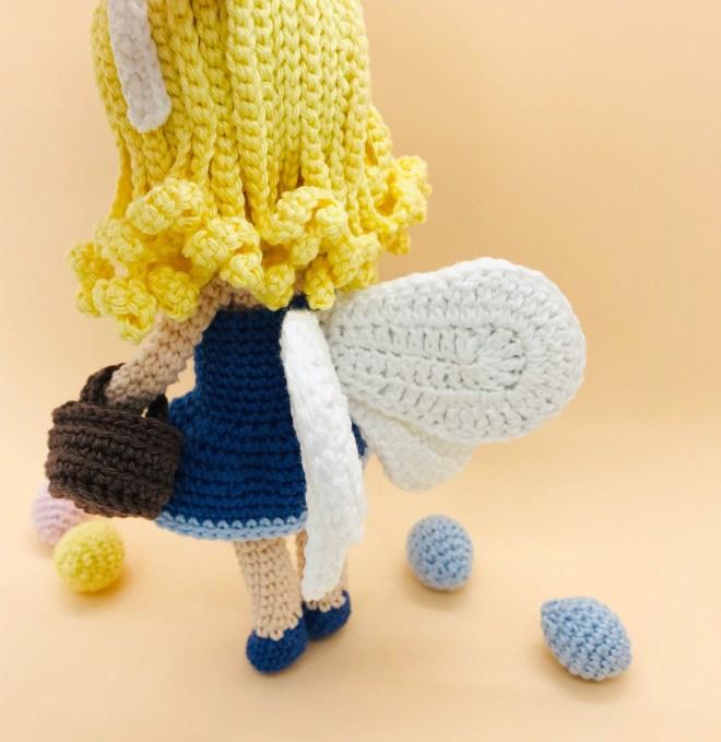 patron amigurumi crochet fée pâques
