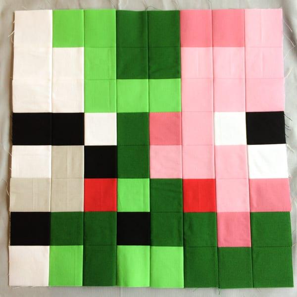 Minecraft Quilt Block Pig Zombie