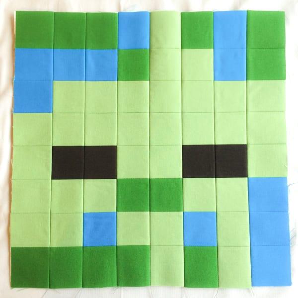 Minecraft Quilt Block Zombie