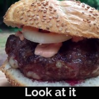 Shrimp n Beef Burger in One Minute