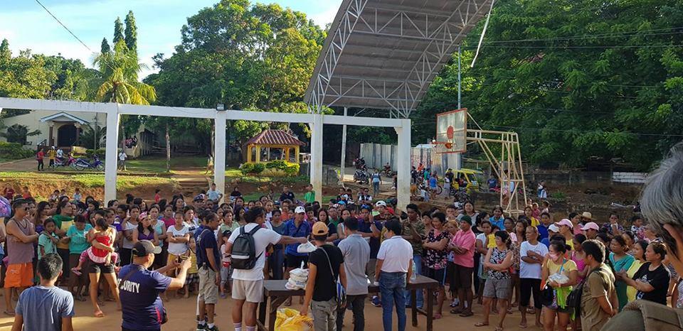 Community Service and Gift Giving at Barangay Yapak.