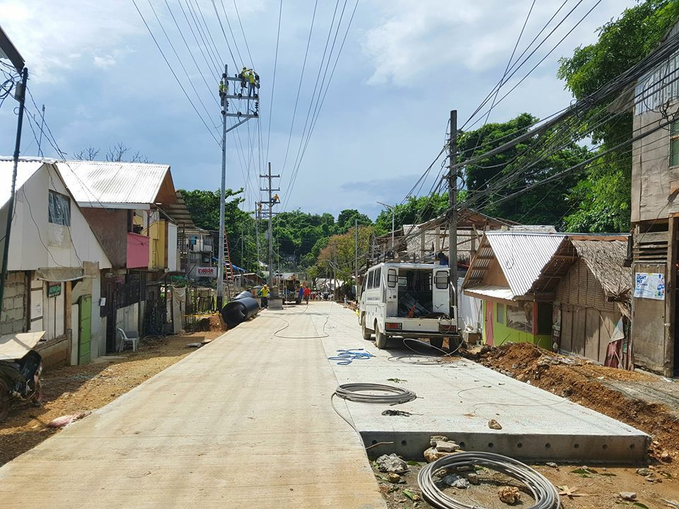 Roadworks in Boracay during closure