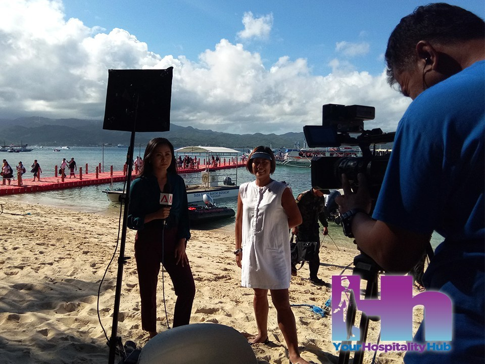 Elena Tosco Brugger interviewed for National News programs on the day Boracay Re-opens Oct 2018