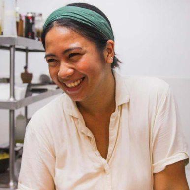 Bird Pinggoy, chef at Wild Takeover kitchen siarago