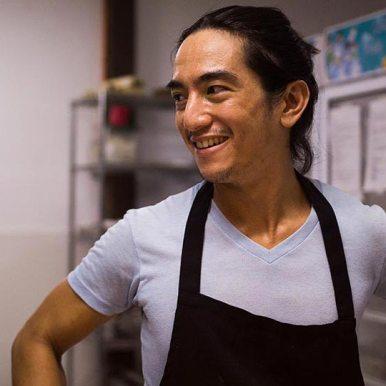 Ram Pastelero of Lotus Shores/Wabi Swabi who hosted a night of vegan food.