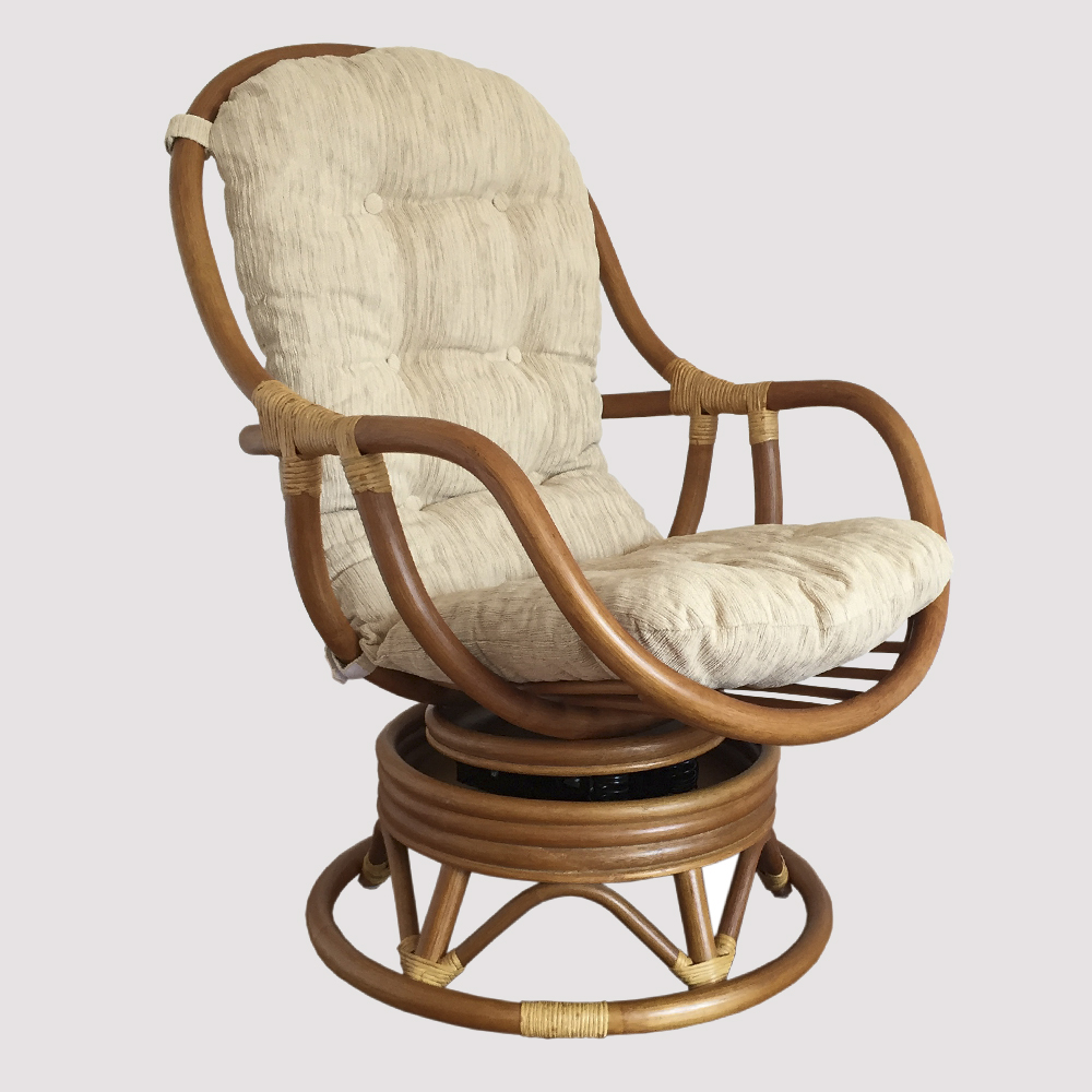 Swivel Rocking Chairs Erick Rattan Swivel Rocking Chair With Cushion