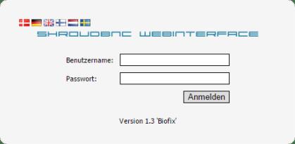 shroudBNC Webinterface