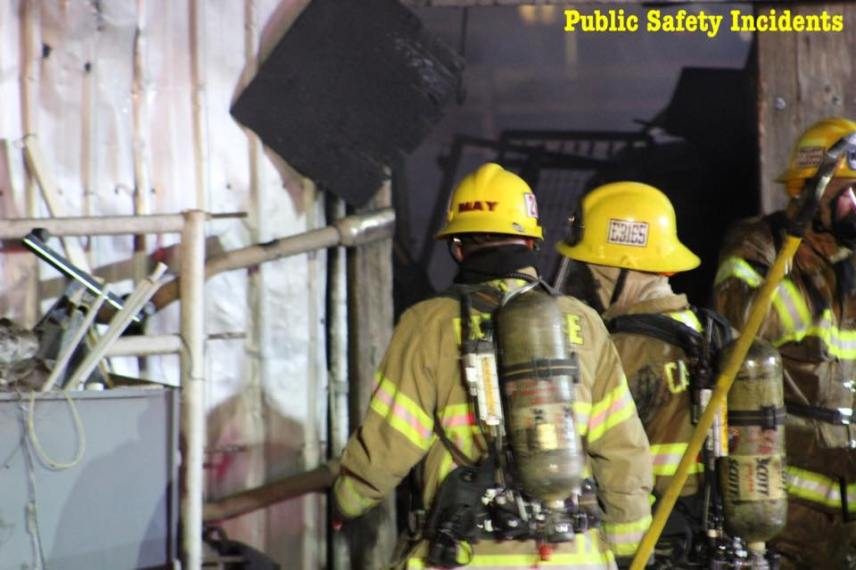 Firefighters remained on scene for several hours after the fire was extinguished. Robert Carter photo