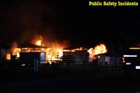 A barn and shed were destroyed by the fire. Robert Carter photo