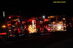 Six engine companies responded to the fire. Robert Carter photo