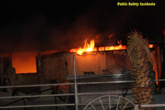 The horse barn was destroyed by fire. Robert Carter photo