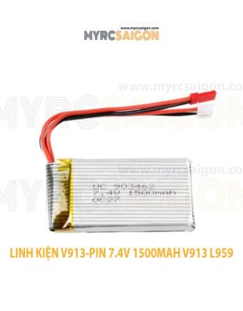 LINH KIỆN V913-PIN 7.4V 1500MAH V913 L959