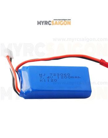 Pin 2s 1200mAh WeiLi V262 V333 V353B V666 Q212 Code 723060