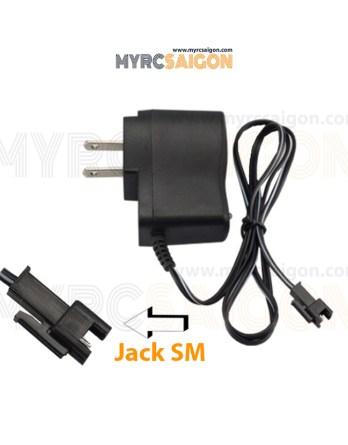 Sạc pin 3.7V jack SM