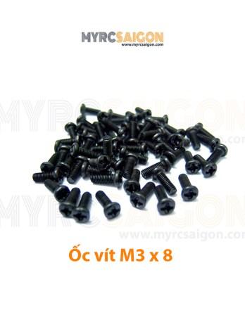 Ốc vít + M3 x 8 (đen)