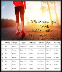 7 week half marathon training schedule