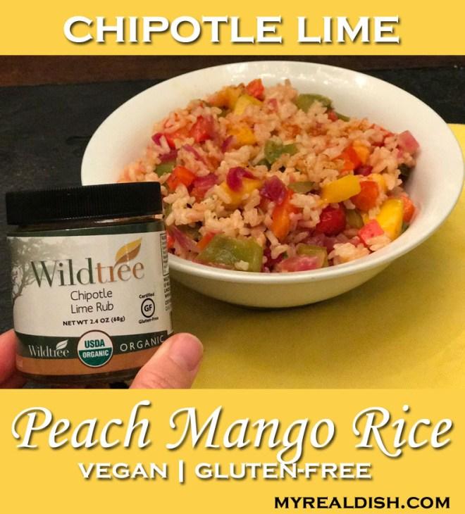 chipotle lime peach mango rice