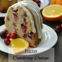 Italian Cranberry Orange Pound Cake
