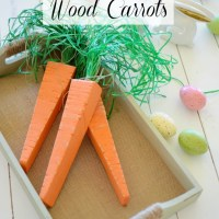 DIY Wood Carrots
