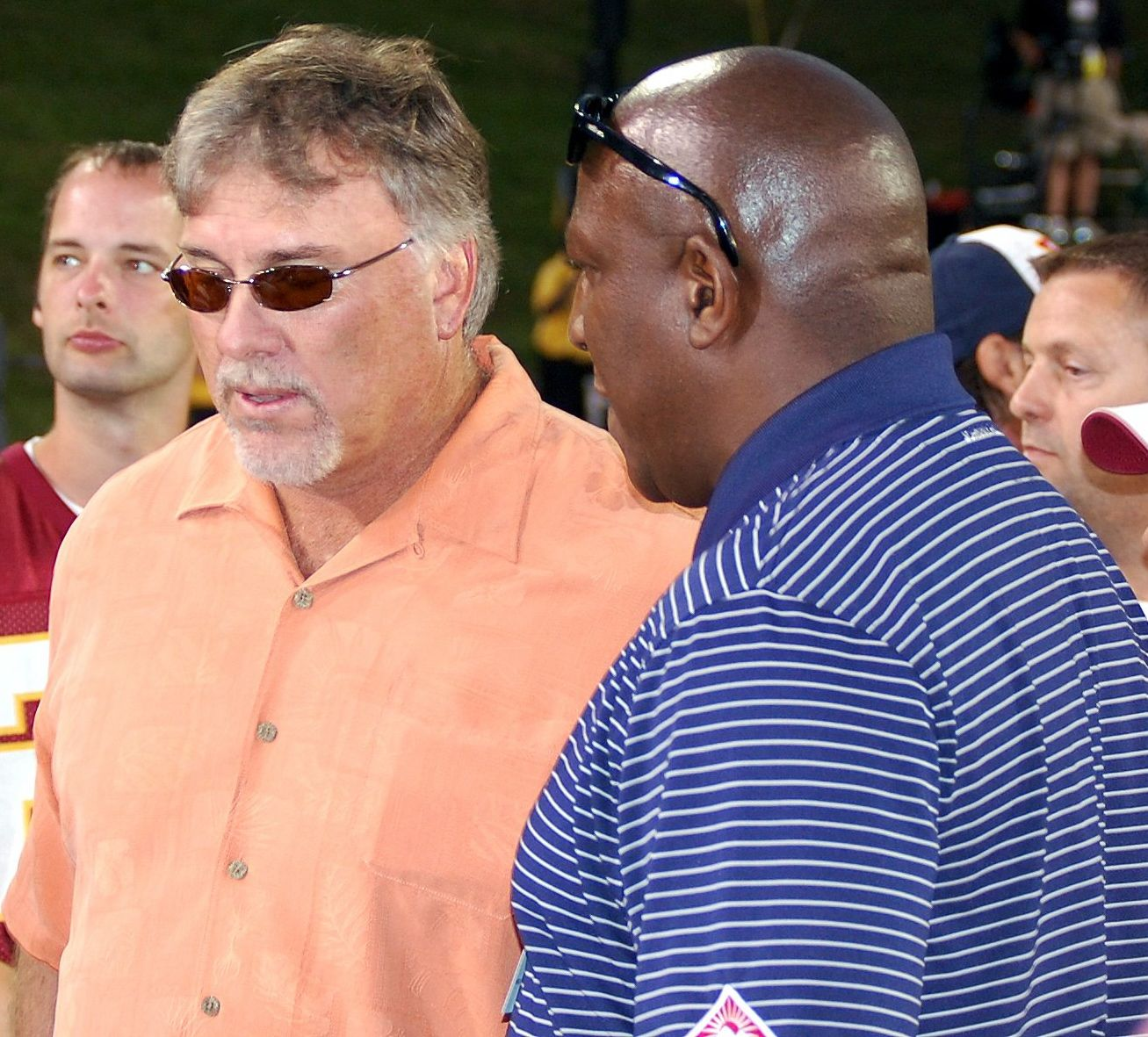 """Two of the original Hogs, Tight Ends Don Warren and Rick """"Doc"""" Walker"""