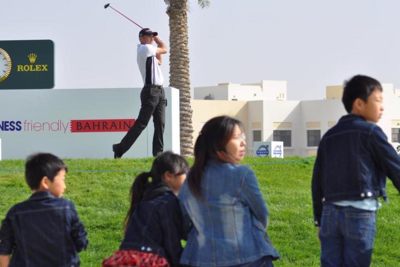 Spectators looking for the landing spot