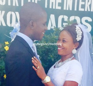 Esther and Lawrence legalize their Union on the 8th of May 2015. Wishing them Happy married life.